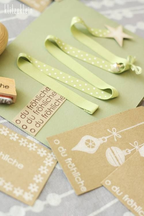 Tarjetas de navidad originales hechas a mano regalo y fiesta - Ideas originales para postales de navidad ...