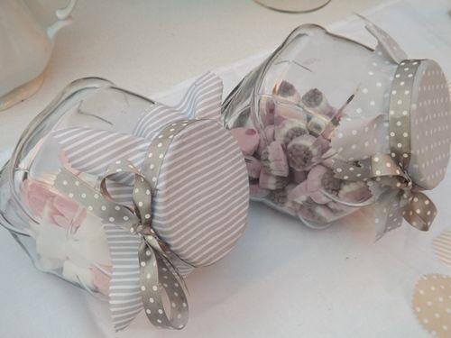 Tarros para chuches y caramelos fiestas con olor a - Como decorar botes de cristal para chuches ...