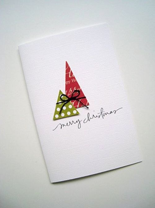 Tarjetas de navidad originales hechas a mano regalo y fiesta for Easy xmas cards