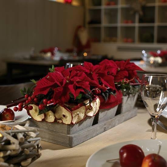 C mo hacer un arreglo de mesa de navidad con flor de - Preparar mesa navidad ...