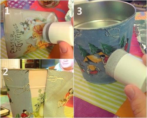 Decorar macetas de barro con telas alegres para un regalo - Como decorar macetas de barro ...