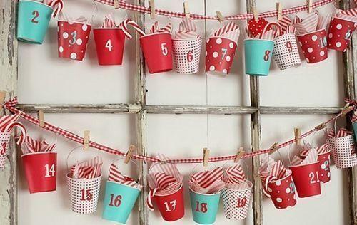 Manualidades de navidad muy f ciles calendario de - Manualidades muy faciles ...