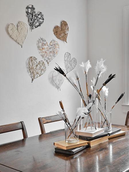 Manualidades con alambre corazones para decorar bodas - Manualidades para decorar paredes ...
