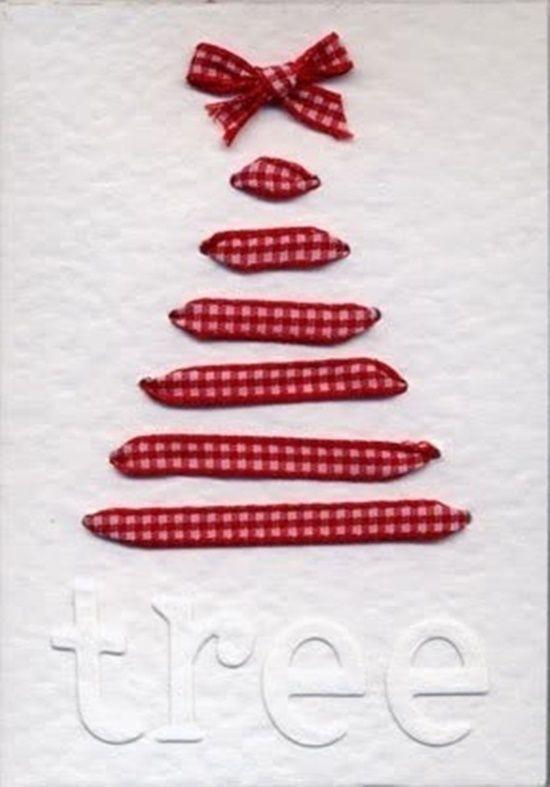 Postales de Navidad originales con cintas y ramas secas | Regalo y ...