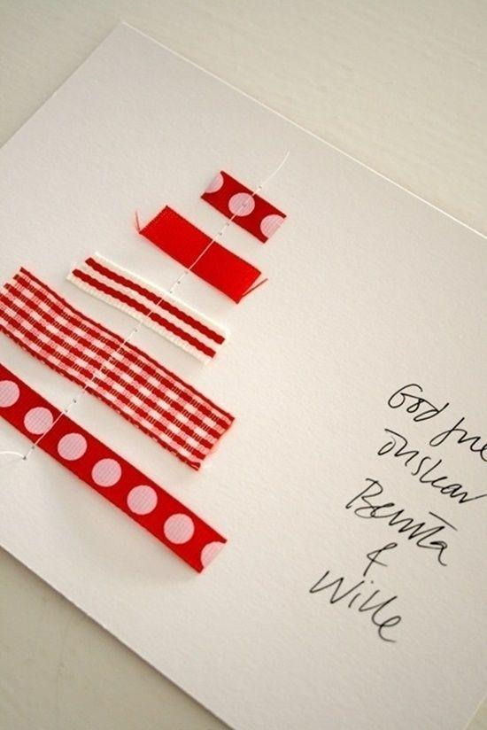elegantes tarjetas navideas hechas a mano postales de navidad originales con cintas y ramas secas regalo y