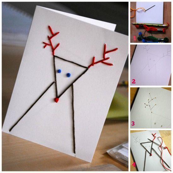 Tarjetas de navidad originales hechas a mano figuras con - Targetas de navidad originales ...