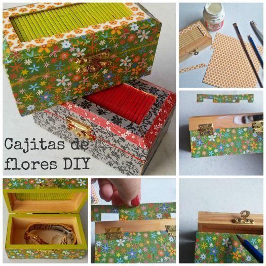 C mo decorar cajitas de madera diy con papel regalo y fiesta - Cajitas de madera para decorar ...
