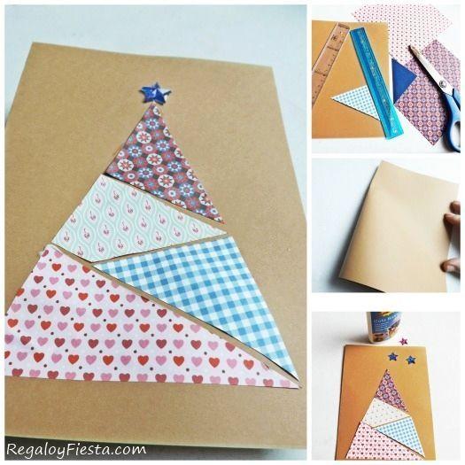 diy 3 tarjetas de navidad originales hechas a mano
